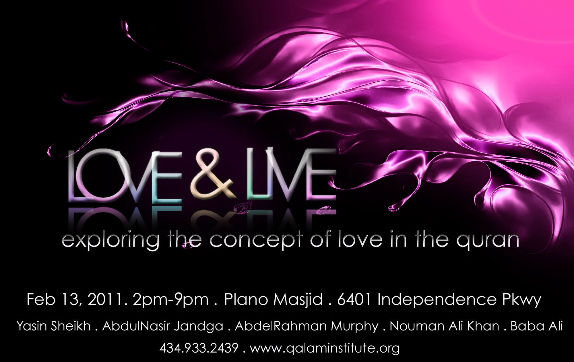 Conference: Love & Live Feb 13th, 2011