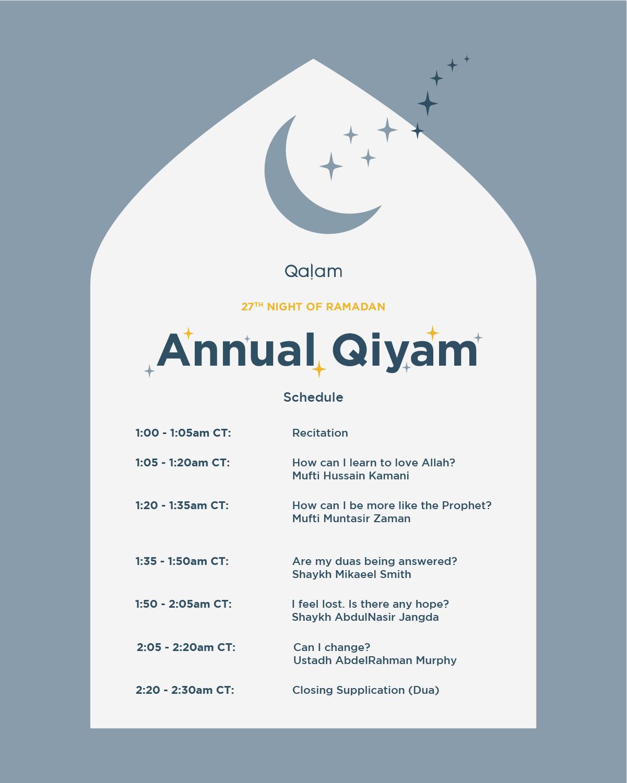 Qalam Qiyam 2021 – Part 1 – How can I learn to love Allah?